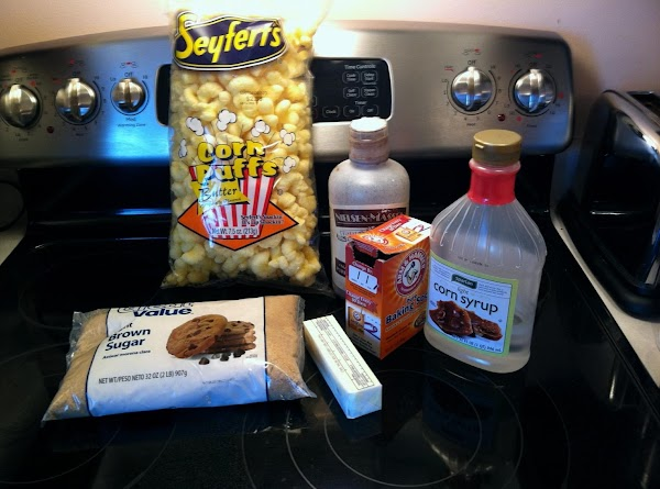 Preheat oven to 250 degrees.  Place butter, brown sugar, and corn syrup in...