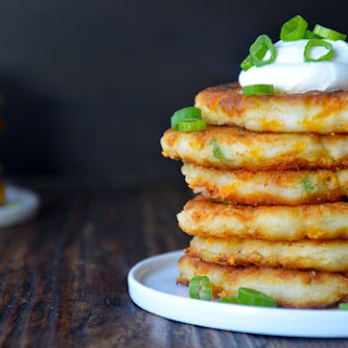 Cheesy Leftover Mashed Potato Pancakes.
