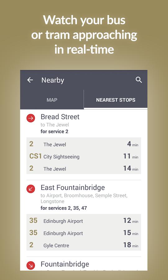 Transport for Edinburgh- screenshot