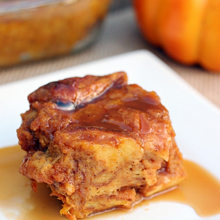 Salted Caramel Pumpkin Bread Pudding Recipe