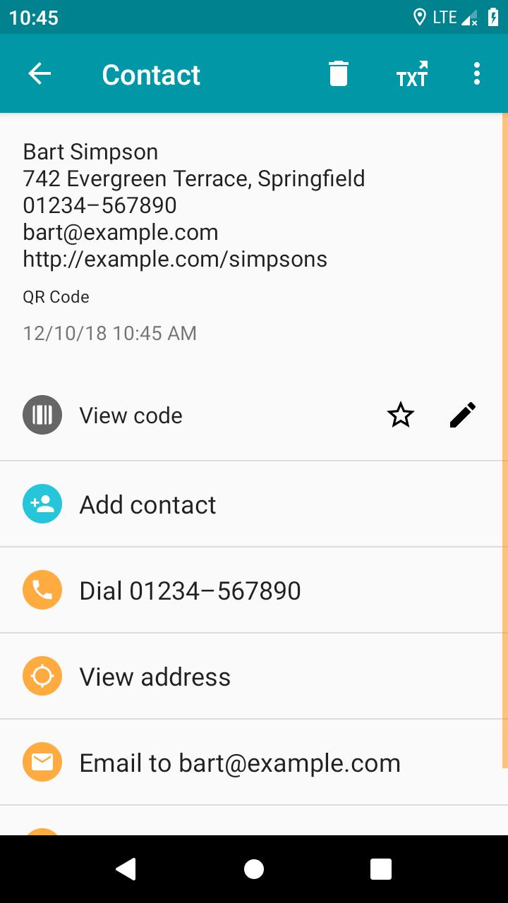 QR & Barcode Reader (Pro) Screenshot 1