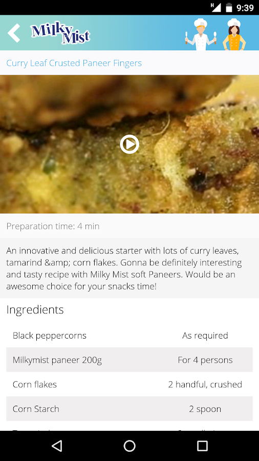 Milky Mist Dairy Food Recipe- screenshot
