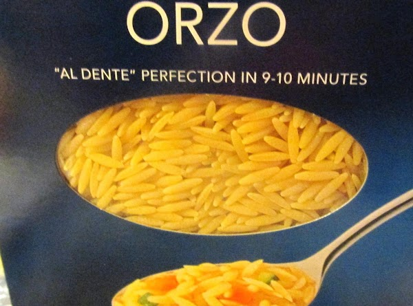 Please note that Orzo Pasta is SHAPED LIKE RICE, but requires less cooking time....