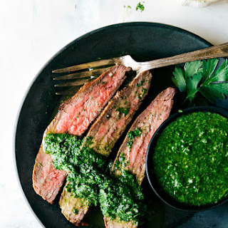 Flank Steak with Easy Cilantro Chimichurri