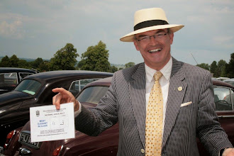 Photo: A joyful Steven Murray discovers he Lady Beament has been voted 'Most Elegant in Class'