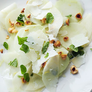 Shaved Kohlrabi with Apple and Hazelnuts