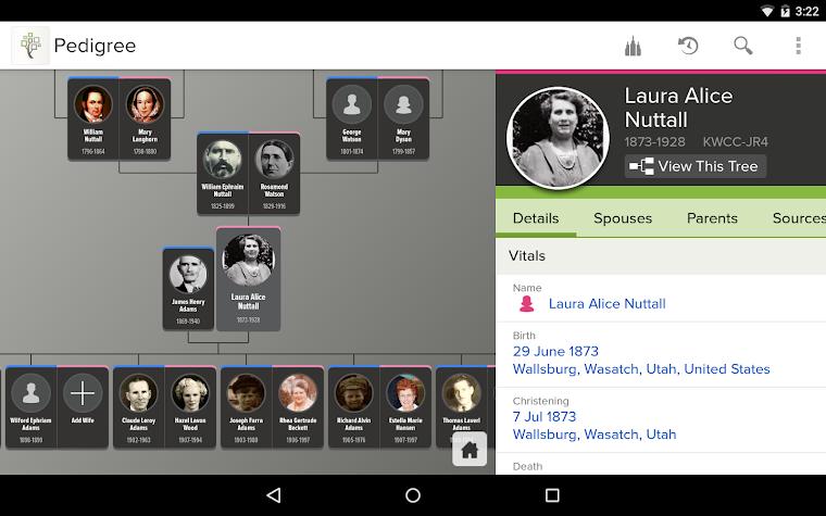 FamilySearch Tree Screenshot