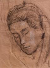 Photo: Nr.: 3 Schlafende im Orientexpress, Kohle auf Packpapier, 1932