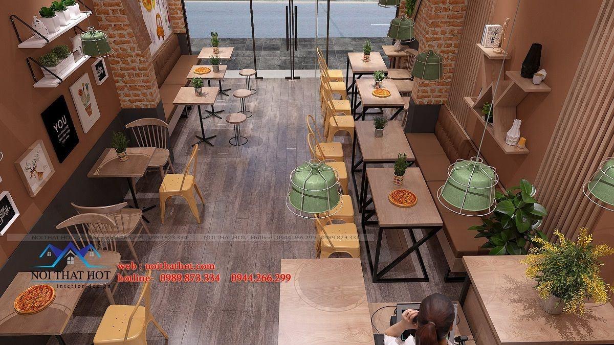 thiết kế cửa hàng pizza bau's 11