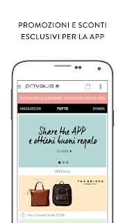 Privalia, outlet di moda screenshot 02
