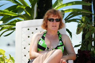 Photo: Enjoying the pool at Cabinas Jimenez