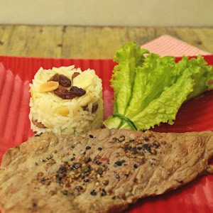Pepper Steak with Aromatic Rice