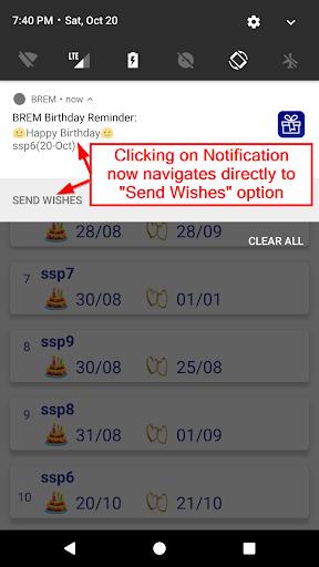 BREM (Birthday REMinder) 3.0 Screenshots 5