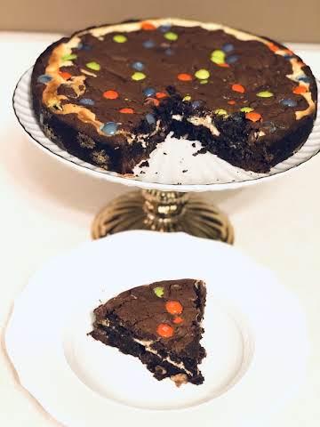 Jeweled Brownie Cheesecake