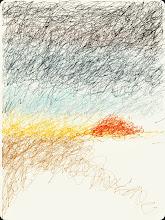"""Photo: """"scribbled scene"""" 7.29.14 digital 8x10"""