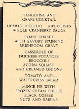 Photo: Thanksgiving menu 1941