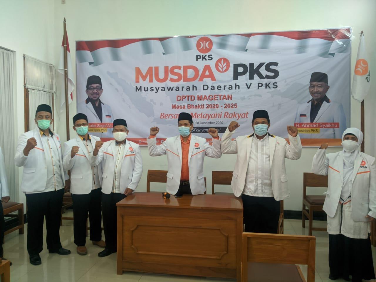 Musda V, Struktur Kepengurusan PKS Magetan Periode 2020-2025
