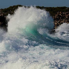 Engulfed  by René Wright - Landscapes Waterscapes ( rocks, rushing, cape of storms, wave, sea,  )