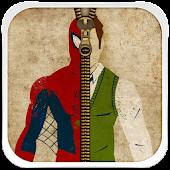 Superhero Zipper Lock Screen