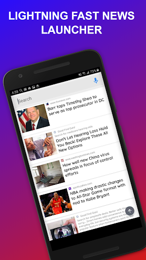 News Home - Full Screen News Widget and Launcher 2.6.39 screenshots 1