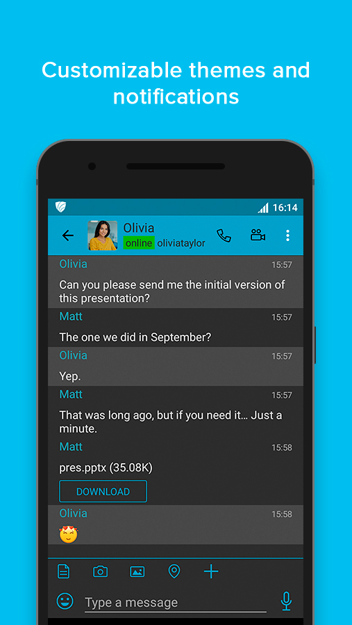 VIPole Secure Messenger- screenshot