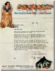 Disney Rejection Letter