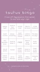 Taurus Bingo - Instagram Story item