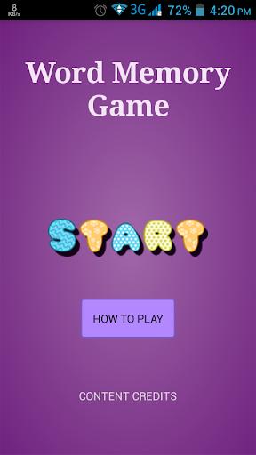 Word Memory Game