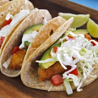 Crispy Panko Fish Tacos.