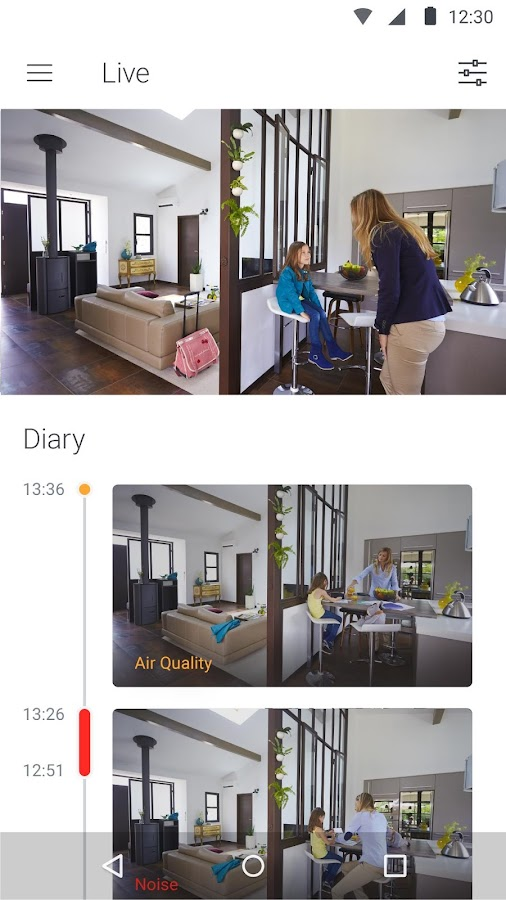 Screenshots of Withings Home for Android