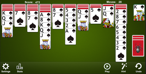 Spider Solitaire apkpoly screenshots 2