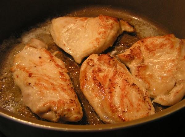 Melt 1 1/2 T butter in skillet over med-high heat. Add half of chicken...