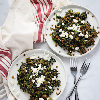 Mediterranean Spinach and Lentils with Feta Recipe
