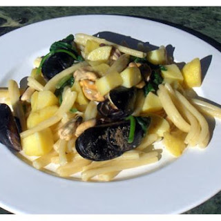 Summer Pasta With Strozzapreti, Arugula, Potatoes & Mussels