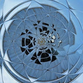 Industrial Flower by Johnny Knight - Novices Only Abstract ( building, abstract art, artistic, architecture, industry, construction )