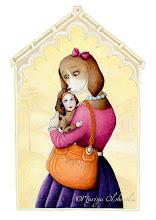"Photo: ""My Precious Baby"" - Gouache painting - 2011"