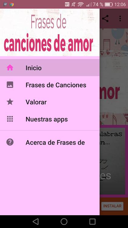 Frases De Canciones De Amor Android приложения Appagg