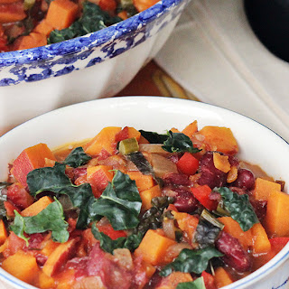 Sweet Potato Chili with Kale