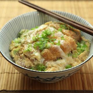 Katsudon (Japanese Chicken or Pork Cutlet and Egg Rice Bowl).
