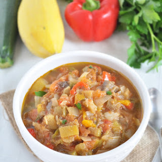 Slow Cooker Ratatouille Soup.