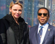 Princess Charlene of Monaco and the late King Goodwill Zwelithini.