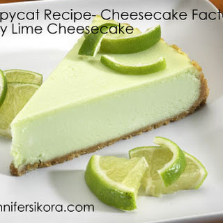 Copycat Recipe- Cheesecake Factory Key Lime Cheesecake.
