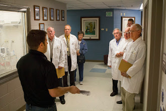 Photo: Class of '63 on a tour of Lynn Hall