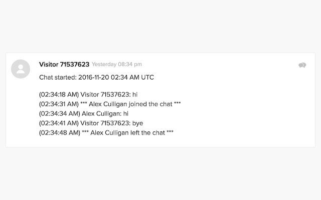 Zendesk Chat Ticket Bubbles