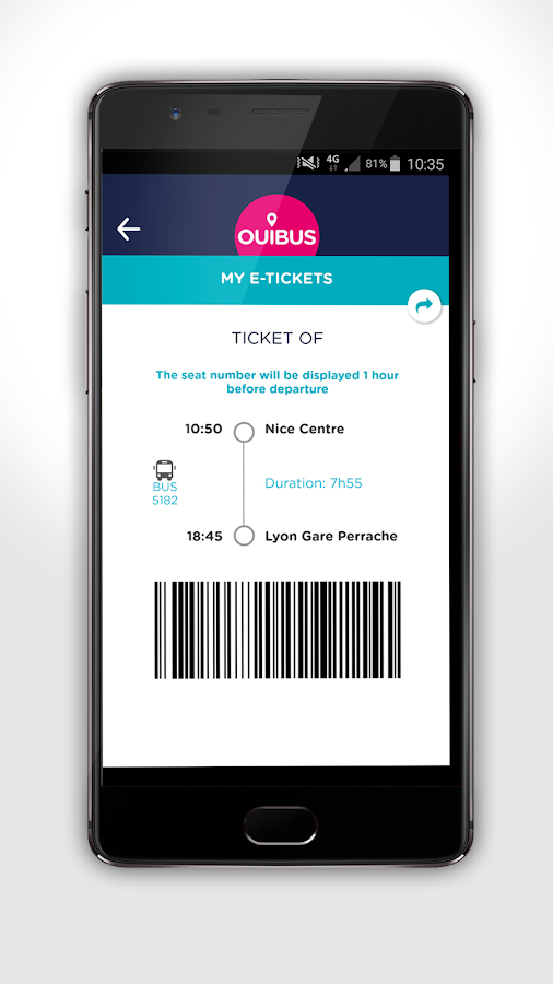 OUIBUS – Travel by bus- screenshot