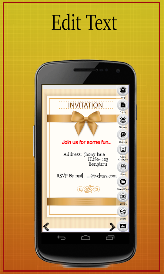 Party Invitation Card Maker Android Apps On Google Play - Birthday party invitation reply wording