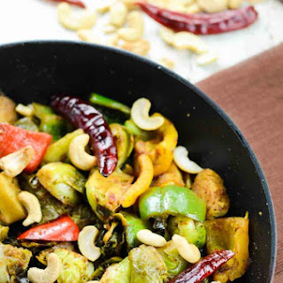 Kung Pao Brussels Sprout and Capsicum