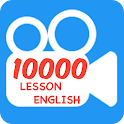 Learn English with 10000 video icon