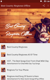 Best Country Ringtones Offline Screenshot