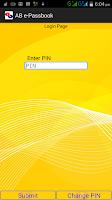 Screenshot of Andhra Bank e-Passbook
